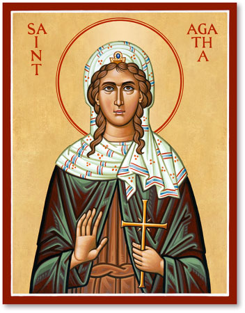 Saint Agatha - Patroness of Nurses
